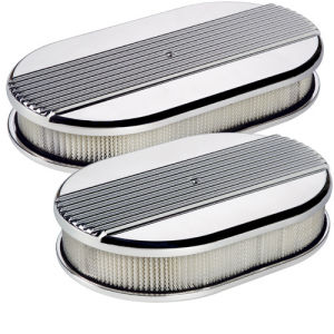 Large Oval Air Cleaner Ribbed Polished Photo Main