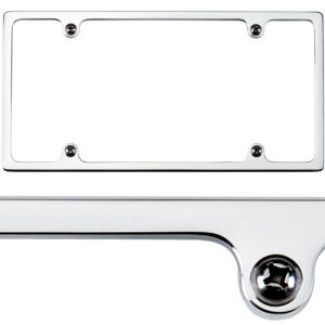 Billet License Plate Frame Slim-Line Polished Photo Main