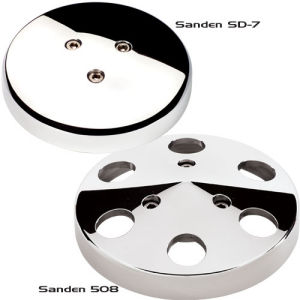 Billet A/C Clutch Cover ( Sanden 508) Polished  Photo Main