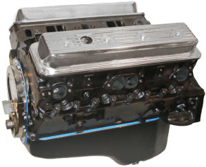 Base 355ci Long Block SBC w/ Cast Iron Heads, 1pc RMS - 310HP / 360FT LBS Photo Main