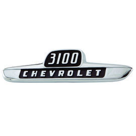 "1955 1st Series Chevrolet Truck Hood Side Emblems ""3100 Chevrolet"" with fasteners Photo Main"