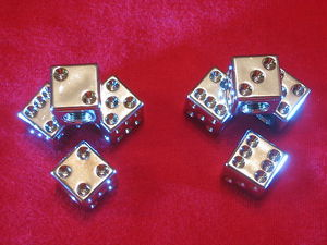 "Value Stem Covers ""Dice"", Universal, Chrome. Set of 4 Photo Main"