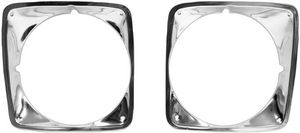 1969-72 Chevrolet Truck Headlight Bezels, Aluminum (mounting screws included) Photo Main