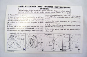 1956 Chevrolet Jack instruction  Photo Main