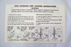 1957 Chevrolet Jack instruction wagon/nomad/sed Photo Main