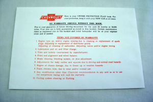 1955-62/1953-62T Chevrolet Owners manual envelope Photo Main