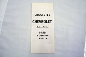 1955 Chevrolet Delivered new car retail price list Photo Main