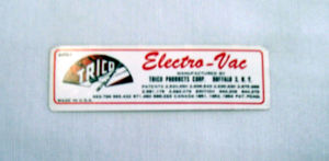 1957 Chevrolet Fuel injection elecvtro vacuum pump decal Photo Main