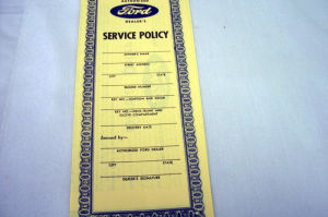 1939-40 Ford Service policy Photo Main
