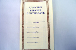 1939-41 Ford Owners service certificate Photo Main