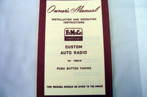 1950 Ford Radio owners manual (Custom) Photo Main
