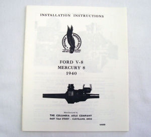 1940/1940T Ford Columbia axle installation instruction Photo Main