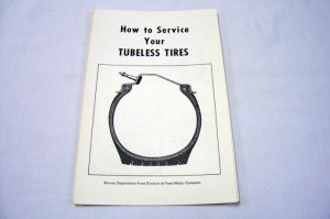 1954-56 Ford New vehicle tubeless tire instructions folder Photo Main
