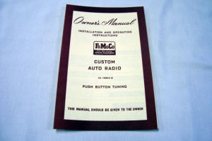 1951 Ford Radio owners manual (Custom) Photo Main