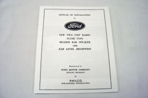 1936 Ford Radio owners manual Photo Main