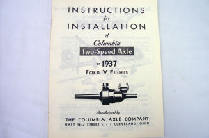 1937/1937T Ford Columbia axle intallation instruction Photo Main