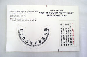 1930-31 Ford Model A speed-o-meter decal set (Northeast) Photo Main