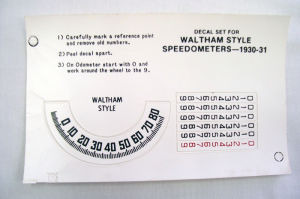 1930-31 Ford Model A speed-o-meter decal set Waltham Photo Main