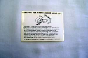 1952-54 Ford Heater box instruction decal Photo Main