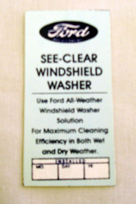 1946-48 Ford Windshield Washer Bracket Decal Photo Main