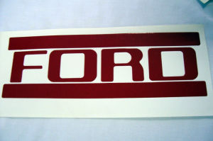 1953-58T Red Ford truck tailgate letters Photo Main