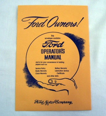 1946-48 Ford Owners manual envelope Photo Main