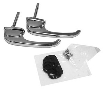 1947-51 Chevrolet Truck Exterior Door Handles, Chrome w/ Gaskets & Hardware Photo Main