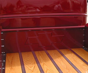 1940-45 CHEVROLET FRONT BED PANEL - EMBOSSED BOWTIE, STEPSIDE Photo Main