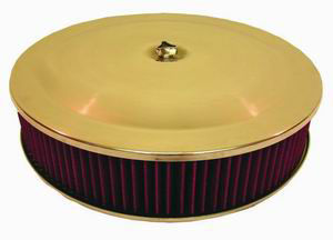 14X4 Anodized Aluminum Air Cleaner W/ Aluminum Flat Base - Washable Element Photo Main