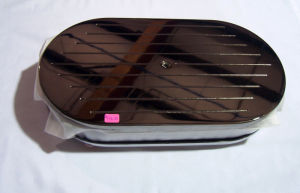 "Black Chrome Aluminum 15"" X 2"" Oval Air Cleaner  Photo Main"