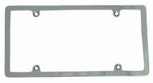Chrome Aluminum License Plate Frame With Light   Photo Main