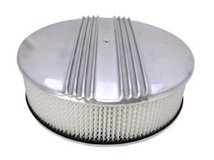 14X4 Round Half Finned Air Cleaner W/ Off-Set Base - Paper Element Photo Main