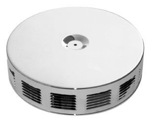 "Louvered Chrome Air Cleaner W/ Off-Set Base 14"" X 3"" - Paper Element Photo Main"
