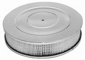 "Performance Style Air Cleaner W/ Recessed Base 14"" X 3"" - Paper Element Photo Main"