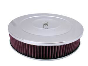"Performance Style Air Cleaner W/ Off-Set Base 14"" X 3"" - Washable Element Photo Main"