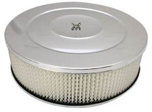 "Performance Style Air Cleaner W/ Flat Base 14"" X 4"" - Paper Element Photo Main"