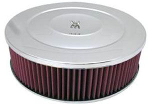 "Performance Style Air Cleaner W/ Hi-Lip Base 14"" X 4"" - Washable Element Photo Main"