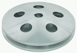 Polished Aluminum GM Power Steering Single Grove  Pulley Photo Main