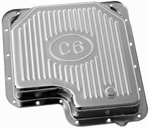 Chrome Steel Ford C-6 Transmission Pan - Finned Photo Main