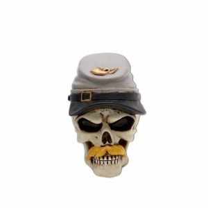 Southern Rebel Skull Shift Knob and Topper Photo Main