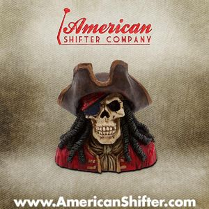 Pirate Jack Skeleton Shift Knob and Topper Photo Main