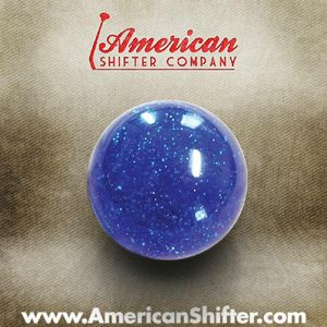 Blue Sparkle Old Skool Shift Knob with Metal Flake Photo Main