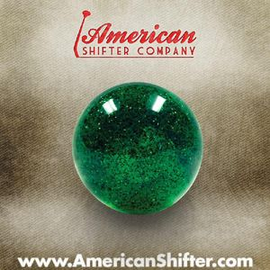 Green Sparkle Old Skool Shift Knob with Metal Flake Photo Main