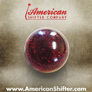 Red Sparkle Old Skool Shift Knob with Metal Flake Photo Main