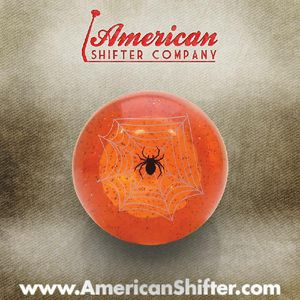 Orange Spider Shift Knob with Metal Flake Photo Main