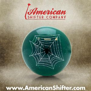 Green Spider Shift Knob with Metal Flake Photo Main