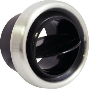Round Vent Louver, Brushed Bezel w/ Black Injected Molded Ball Photo Main