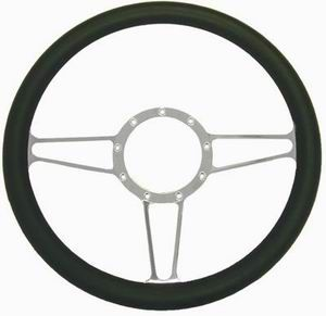 "14"" Alum/Leather Steering Wheel Vintage Photo Main"