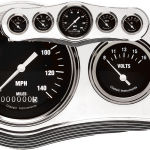 Billet Dash Center Trim Style 5 Gauge Polished