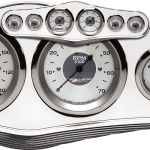 Billet Dash Center Trim Style 6 Gauge Polished
